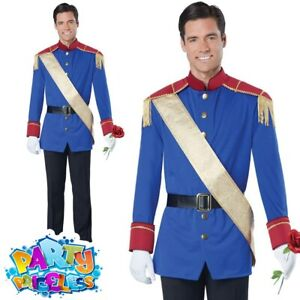 Adult Storybook Prince Charming Costume Fairytale Mens Fancy Dress Outfit