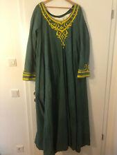 Kleid, Grün, Größe ca L-XL, für LARP, Mittelalter, Orient