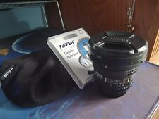 RARE Nikkor Nikon 18mm 2.8 AF D lens, sharp! Tiffen filter, soft case, bonus!