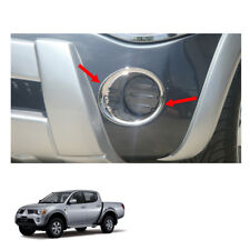 Fog Lamp Light Cover Chrome Trim 2Pc Fit Mitsubishi L200 Triton Pickup 2006 - 08