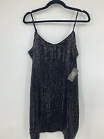 Vince Camuto small dress slip sequined body con fitted short black party NEW