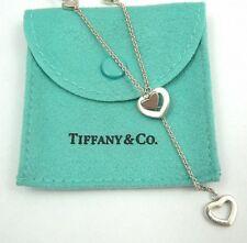 Tiffany & Co. Heart Link Lariat Necklace , .925 Sterling Silver, T & Co.