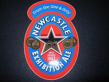 """NEWCASTLE EXHIBITION ALE 4"""" Logo STICKER decal craft beer brewery brewing"""