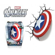 Marvel Avengers 3D Captain America Shield 3DFX Wall Deco Night Light with Decal
