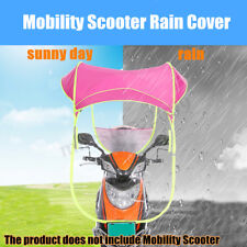Universal Car Motor Scooter Pink Umbrella Mobility Sun Shade Rain Cover