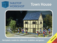 28mm Medieval Townhouse - Tabletop Workshop- NEW - Highly Detailed- Hard Plastic