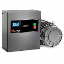 5 HP Rotary Phase Converter - TEFC, Voltage Display, Start and Stop, GP5PLV