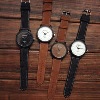 ROSINGA Fashion Watches Big Dial Men Women Leather Quartz Analog Wrist Watch New