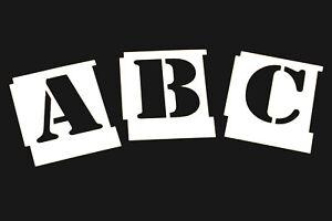 Alphabet Military Letter Stencils A-Z Army Stencil Font 15mm -100mm
