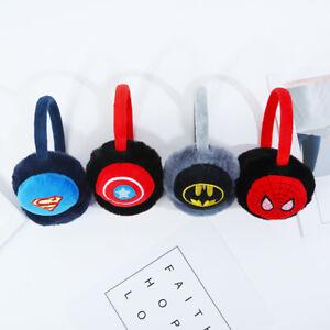Kids Boys Girls Superhero Batman Earmuffs Soft Warm Winter Ear Warmers Gift UK