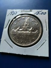 1955 Canadian Silver Dollar ($1), No Reserve!