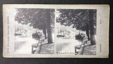 Stereo-View Stereoscopic Photo: New Zealand Graphic #A28: Canal, Delft, Holland