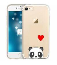 Coque Iphone 7 8 panda emojii coeur
