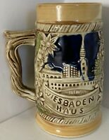 Vintage Wiesbaden Haus German Beer Stein - Couple Hunting