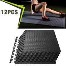 12PCS Exercise Floor Mat Gym Garage Home Tiles Flooring Fitness Yoga Workout