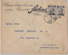 64050 - ITALIA  Regno - STORIA POSTALE: BUSTA PUBBLICITARIA  Varese SUCHARD 1925