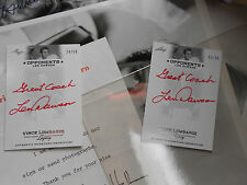 Len Dawson autograph signed auto RED insc /50 Leaf 2012 Vince Lombardi Legacy