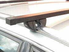 Black Roof Rack Bars Closed Solid Flush Rails for Zafira B 2005 to 2011 Sm 521