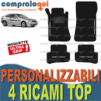 TAPPETINI AUTO su MISURA per MERCEDES BENZ C SPORT COUPE' (CL203) + 4 RICAMI TOP