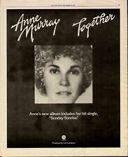 "1975 ANN MURRAY ""TOGETHER"" ALBUM PROMO AD"