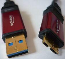 Cavo USB 3.0 Cavo di collegamento 5m Micro B Spina St Esterna HDD Delock 82763