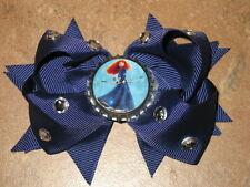 "NEW ""MERIDA - BRAVE"" Rhinestone Hair Bow Girls Ribbon Clip Disney Princess"