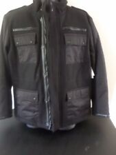 Calvin Klein - Wool Bomber/Military Jacket w/Faux Leather Accents - MEN XLarge