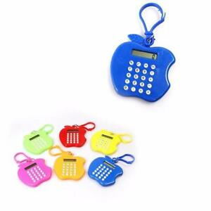 10 x Apple Shaped KEYCHAIN CALCULATORS Handy For Home/School/Office/Party Bags
