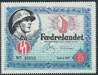 Artist Stamp Replica Label Denmark 01 WWII War Era Feldpost MNH