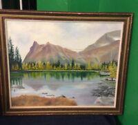 Original Oil On Board~16X20~Mountain Landscape~Artiist Signed J K