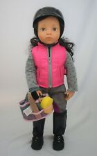 """Gotz Pink Horseback Riding outfit fits other skinny 18"""" dolls"""