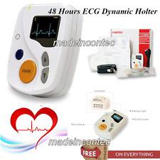 Sistemas dinámicos Holter ECG 12 derivaciones, grabador de 48 horas,Software CE
