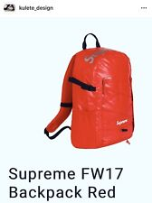Authentic FW17 Supreme Red Backpack, Shipping Fast