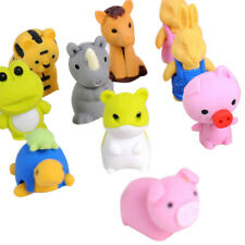 New Cute Animal Rubber Pencil Eraser Set Stationery Novelty Children Party Gift