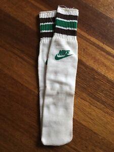 DEADSTOCK Vintage 80's NIKE Tube Sport Socks Basketball Made In USA