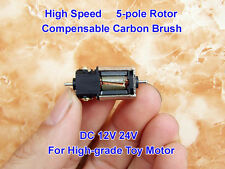 DC 12V 24V 42000RPM High Speed 5-pole Rotor Micro dual short shaft Motor for Toy