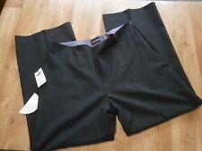 Wardrobes Nano Wool Mix Womens Smart Stretch Trousers Navy Pinstripe size 18