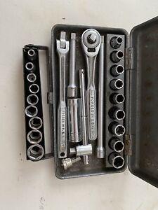 """Craftsman USA Vintage V 1/4"""" Drive General Service Set - Ratchet, Sockets & More"""