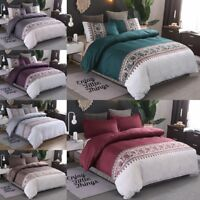 Luxury Duvet Cover With Pillowcases Quilt Cover Bedding Set King 2/3pcs All Size