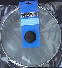 'KITCHEN SPLATTER SCREEN 11 Inch with Center Knob Stainless Steel Wire Mesh' from the web at 'https://i.ebayimg.com/thumbs/images/g/qswAAOSwBLlVDi5o/s-l225.jpg'