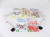 Nintendo Wii Singing Karaoke Bundle 5x Karaoke Singing Games + 2x Microphones