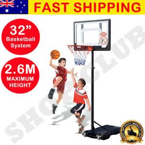 AU Basketball Hoop Stand System Ring Backboard Net Height Adjustable Kids Gift