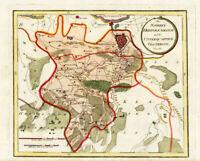 Antique Map-HAND COLOURED-'S HERTOGENBOSCH-OOSTERWIJK-NETHERLANDS-Reilly-1791