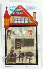 "Dollhouse Miniature 1/4"" Quarter Scale Kitchen Set Table Chairs Stove 1:48"