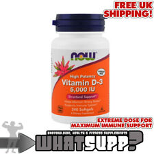 NOW Foods VITAMIN D-3 5,000 IU High Potency x240 Softgels Supports Immune System