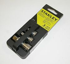 Stanley 3 Pc Accessory Set Includes 2 Swivel Sockets 3/8 1/4 And Adapter 85-727