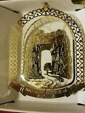 Natural Bridge of Virginia  Brass Christmas Ornament