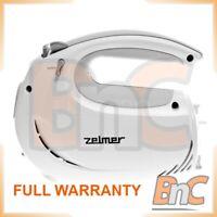 Electric Hand Mixer ZELMER 481.4 Symbio 5 Speeds Whisk 400W White Gray Handheld