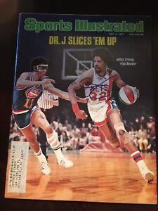 JULIUS ERVING Dr. J SIGNED SPORTS ILLUSTRATED SI Full Magazine Nets 76ers