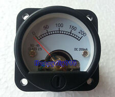 SO-45 DC200MA VU panel meter for 300B 2A3 KT88 845 Tube amplifiers  45X45mm